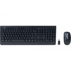 DACOMEX Pack clavier & souris slim sans fil 2.4 ghz noir