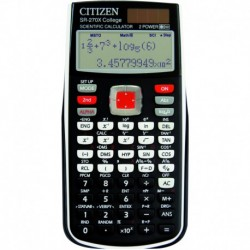 CITIZEN Calculatrice scientifique SR270X noire et blanche