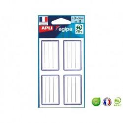 APLI AGIPA Étiquette écolier 36 x 56 mm bleu