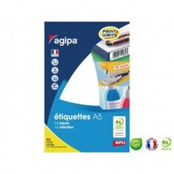 APLI AGIPA Étiquettes de bureau MULTI-USAGES A5 64 x 133 mm
