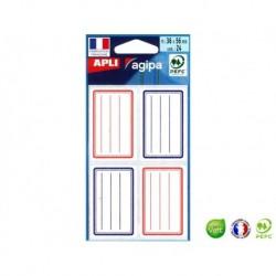 APLI AGIPA Étiquette écolier 36 x 56 mm bleu/rouge