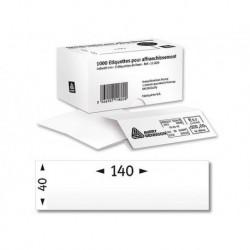 Boîte 1000 étiquettes pour affranchissement 14x4 cm 1 ét./planche