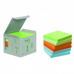 POST-IT Boîte de 6 blocs recyclés pastel