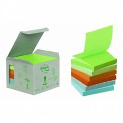 POST-IT Boîte de 6 blocs de recharges Z-NOTES recyclées pastel