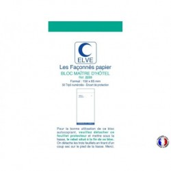 ELVE Bloc maître d'hôtel tripli bleu/rouge/vert 8,5 x 15 cm