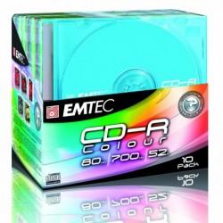 EMTEC Boîte de 10 CD-R 700 Mo, 80 min