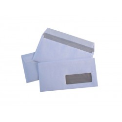500 enveloppes blanches économiques DL fenêtre 35 auto-adhésives