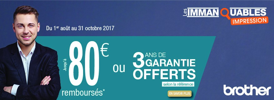 Offre promotionnelle Brother